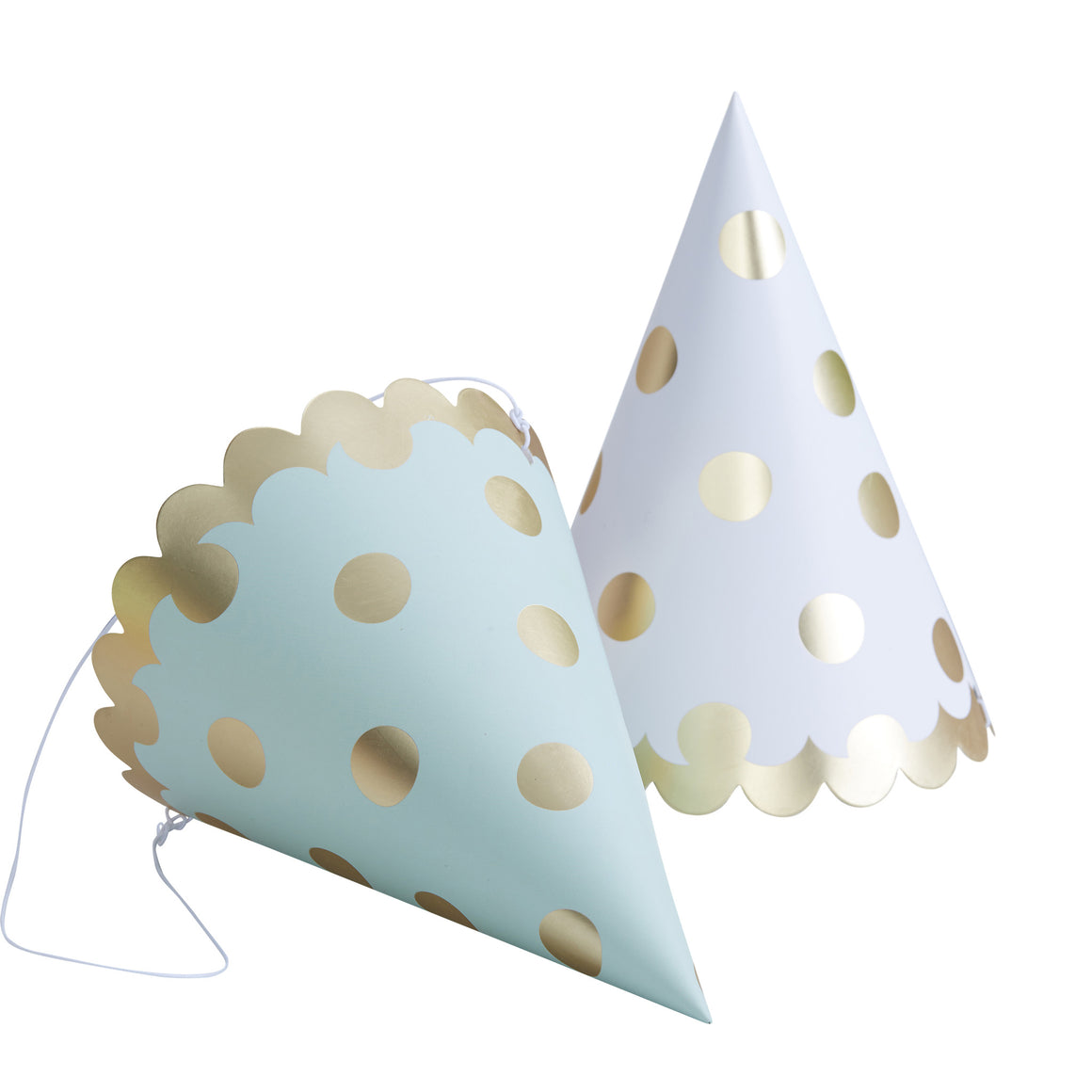 Polka Dot Gold 6 Party Hats