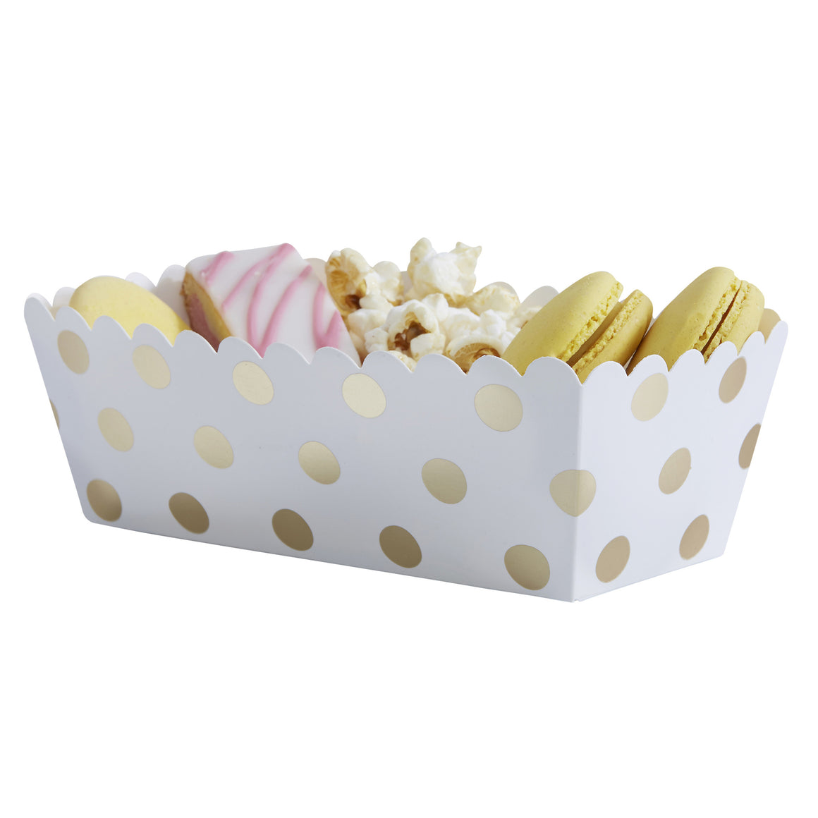 Polka Dot Gold 5 Food Trays