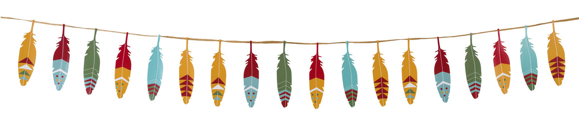 Pow Wow Party Feather Garland