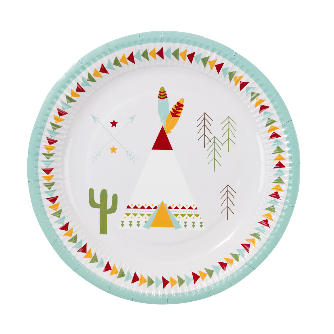 Pow Wow 12 Party Plates
