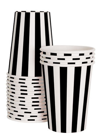 12 Cups - Black Tie Striped