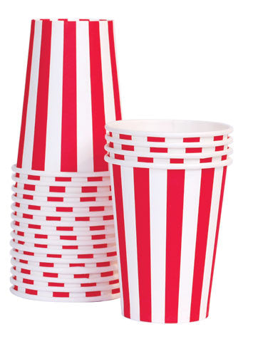 Cups - Red Striped