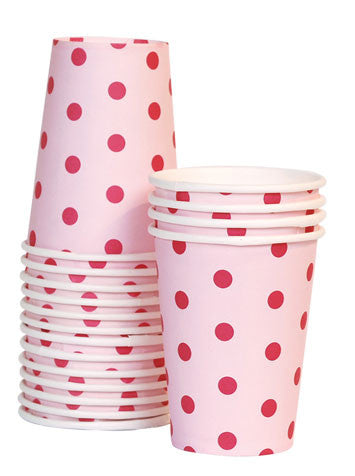 12 Cups - Pink Floss Polka Dots