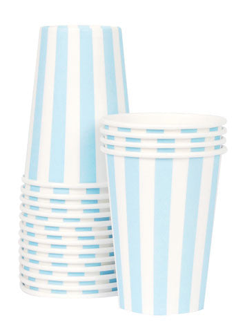 Cups - Powder Blue Striped