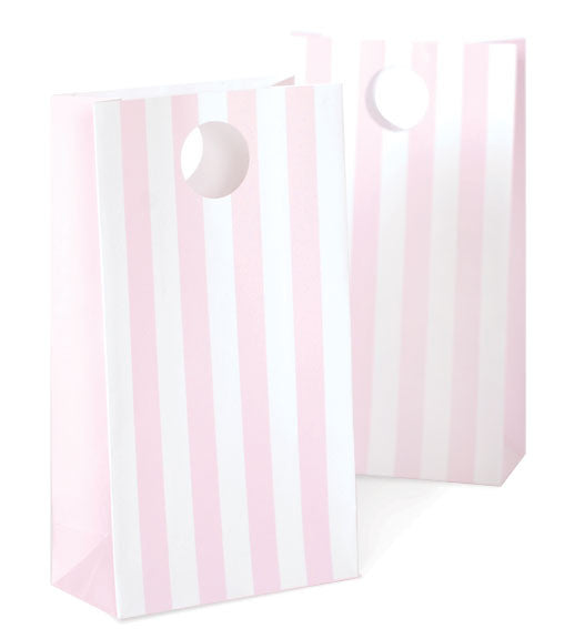 12 Party Bags - Light Pink