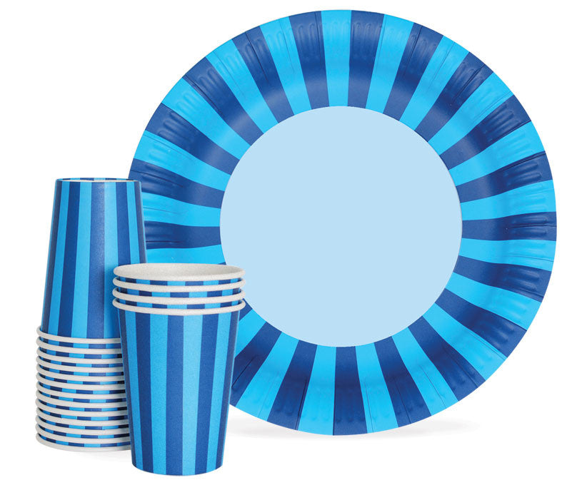 Cups - Navy Blue Striped