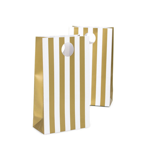 12 Party Bags - Gold
