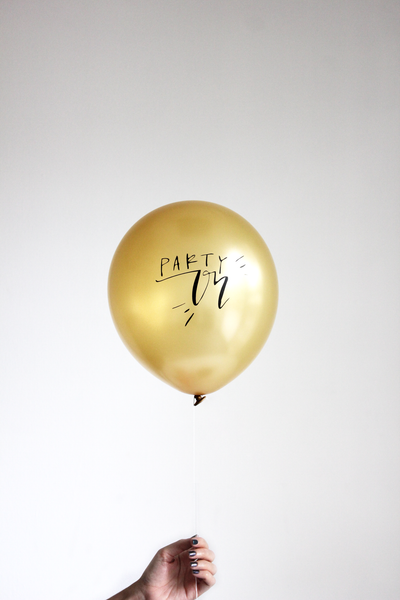 PARTY ON 3 balloons