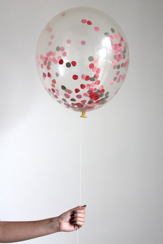 Confetti Balloon - Poppy