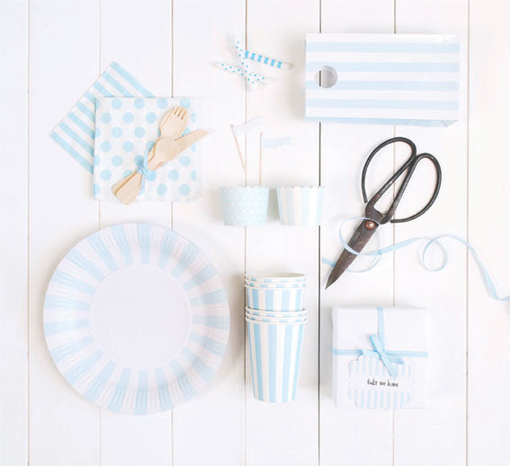 Napkins - Powder Blue, light blue party supplies