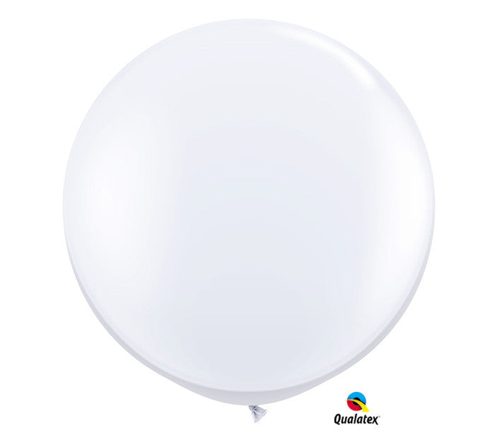 "30"" Large White Balloon"
