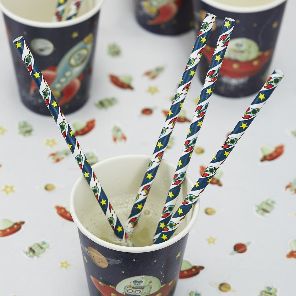 Space Adventure Party - 25 Paper Straws