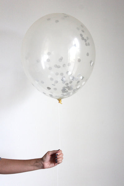 Confetti Balloon - Sterling