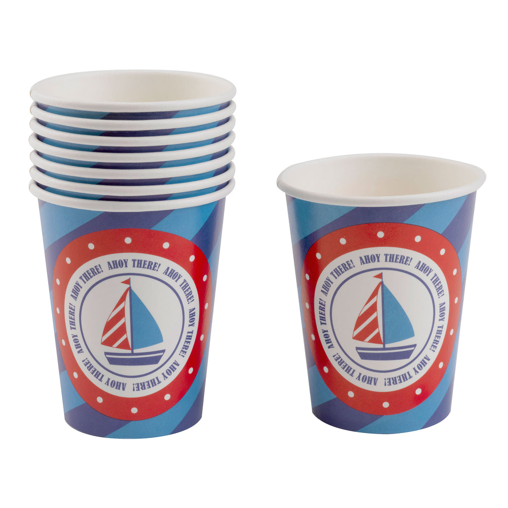 ahoy there nautical baby shower first birthday ship party supplies