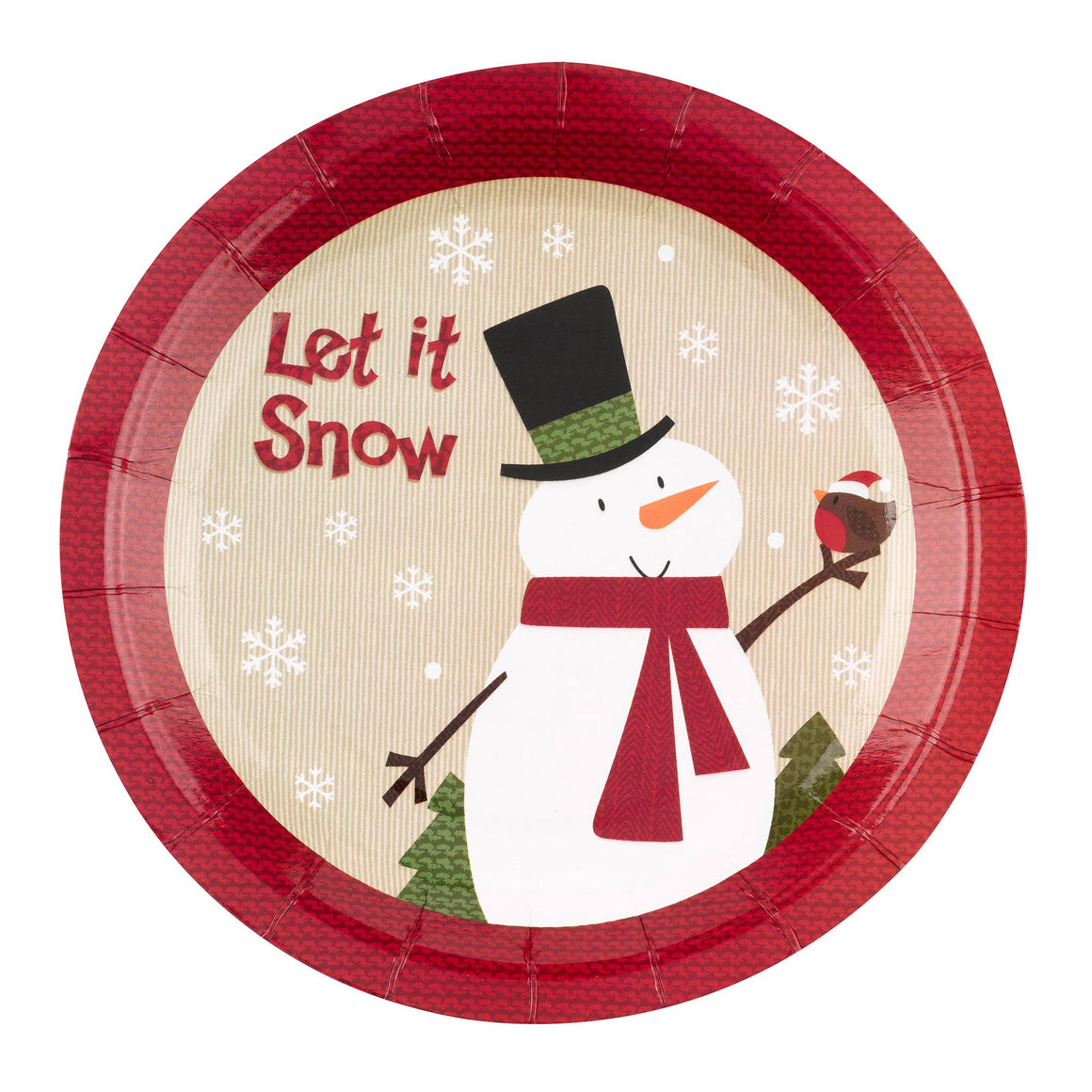 Let it Snow Snowman 8 Plates