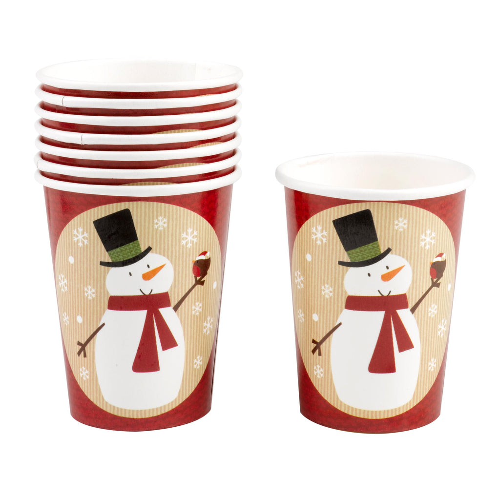 Let It Snow 8 Snowman Cups