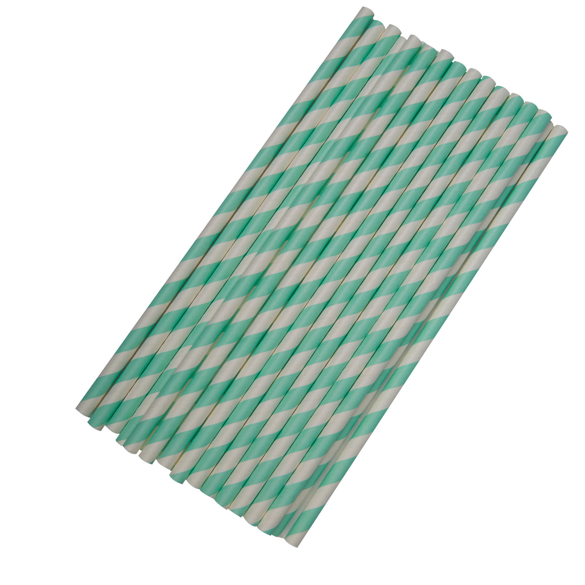 Paper Straws Stripes 25 Mint