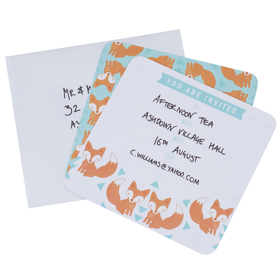 Fox 10 Party Invitations - Woodland Friends