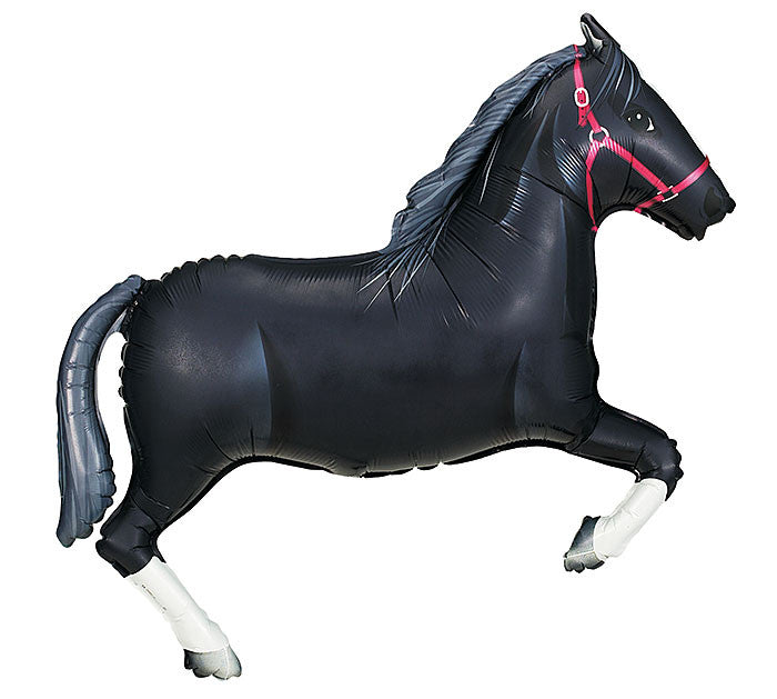 "Black Horse 43"" Balloon"