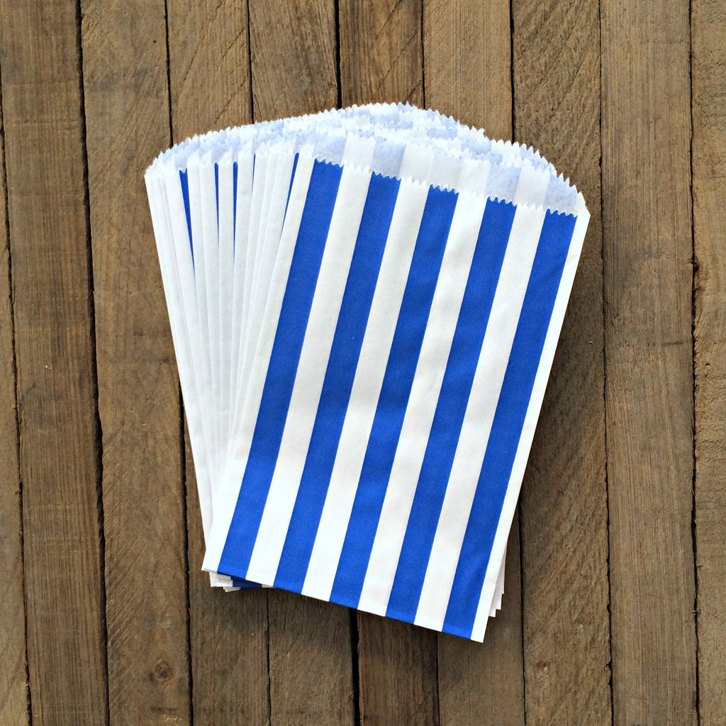 Candy Bags - Blue Stripes