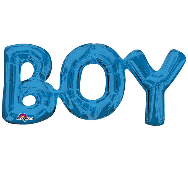 "BOY Blue Phrases 22"" Balloons"