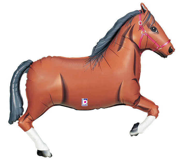 "Brown Horse 14"" Balloon"