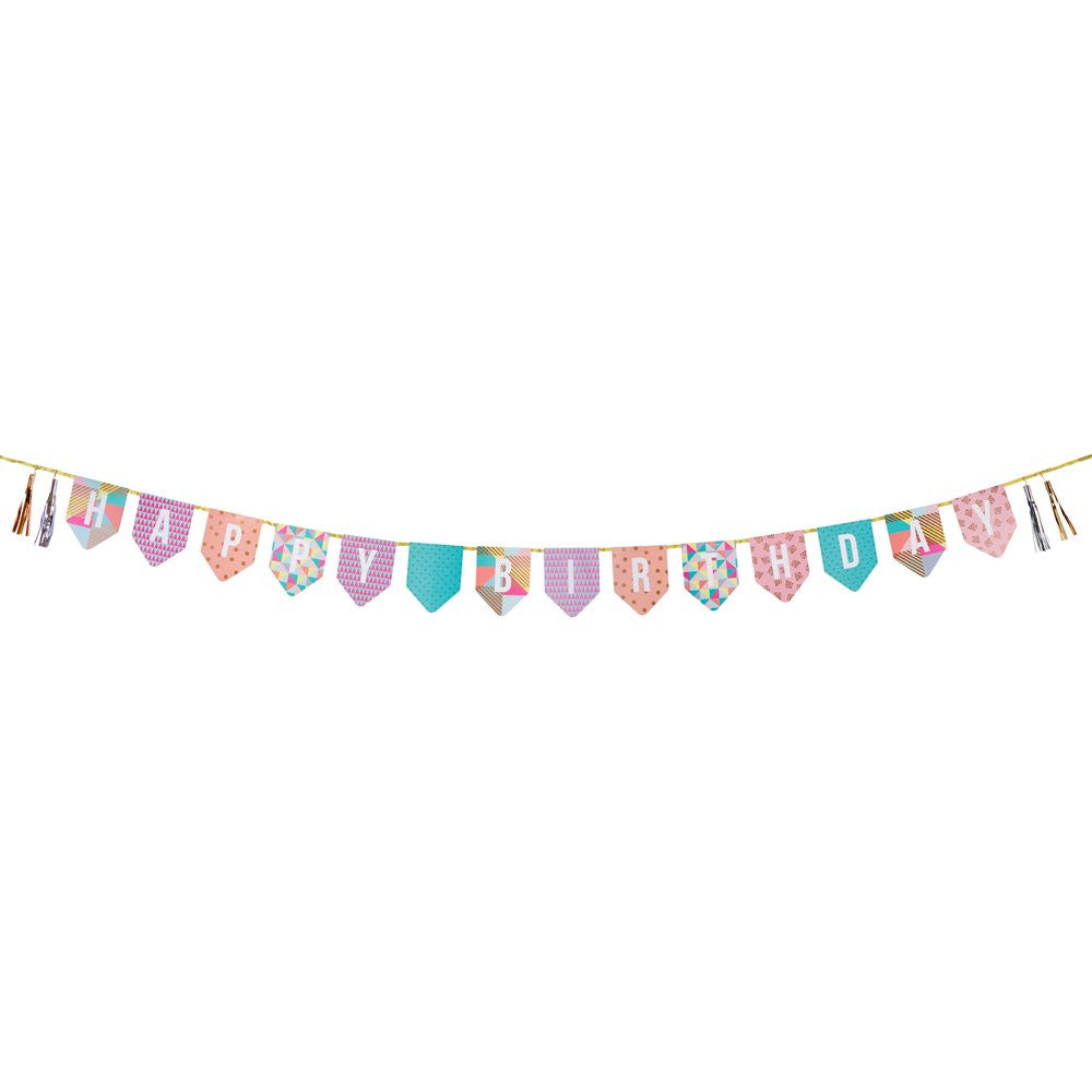 Geometric Party Birthday Bunting