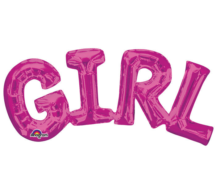 "GIRL Pink Phrases 22"" Balloons"