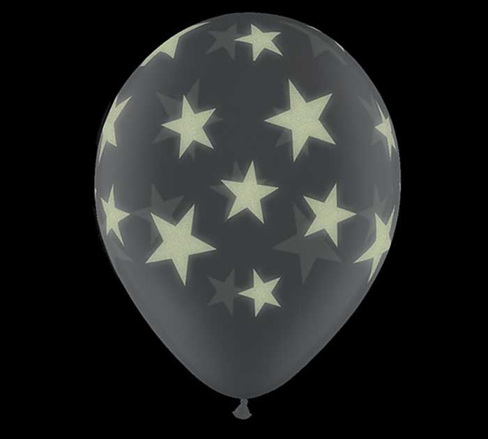 "11"" Glow in the dark stars Balloons"