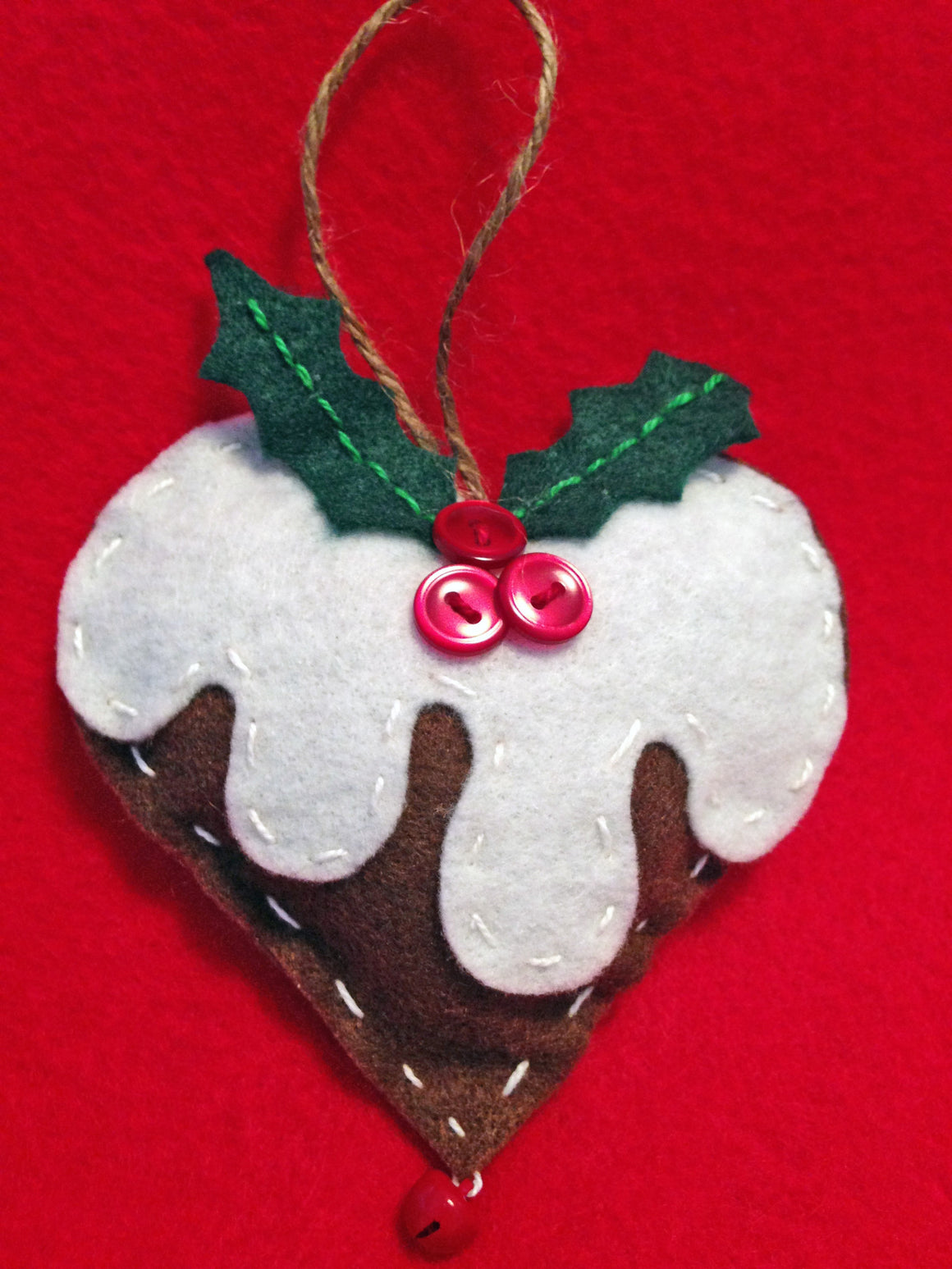 Chocolate Heart Handmade Ornament
