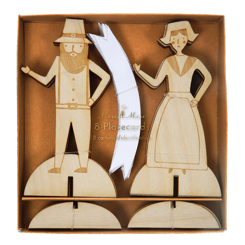 Thanksgiving Pilgrim Wooden 8 Placecards