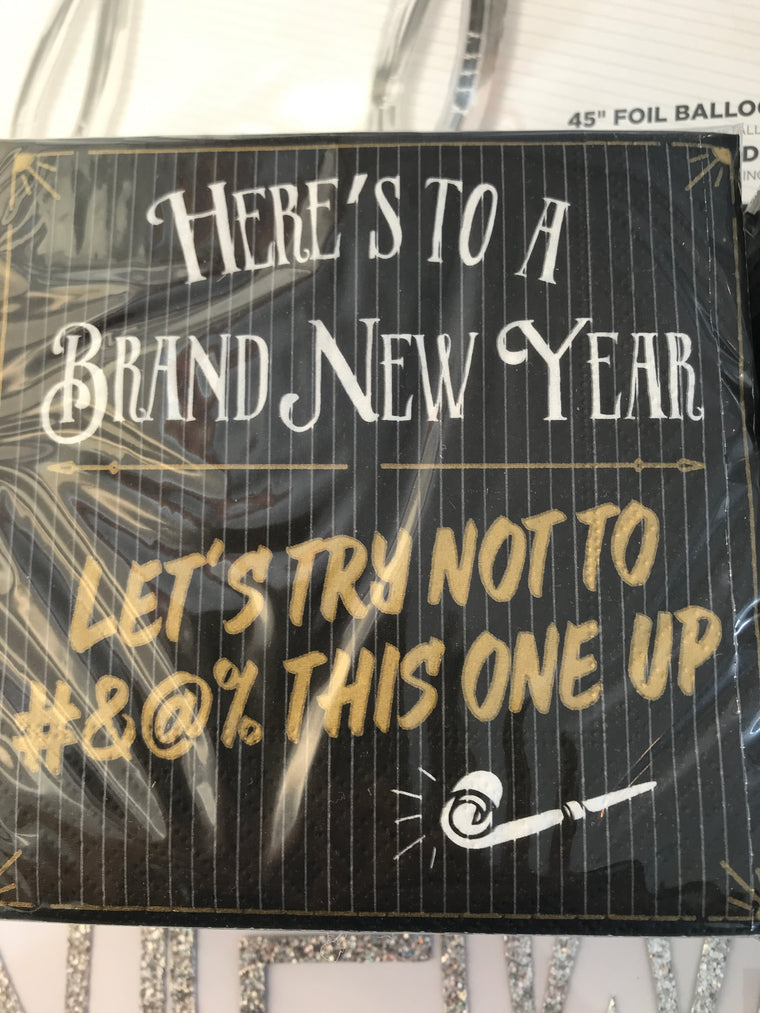 Here's to a Brand New Year 20 Napkins
