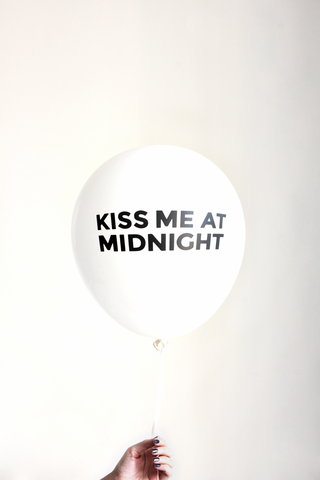 KISS ME AT MIDNIGHT 3 balloons