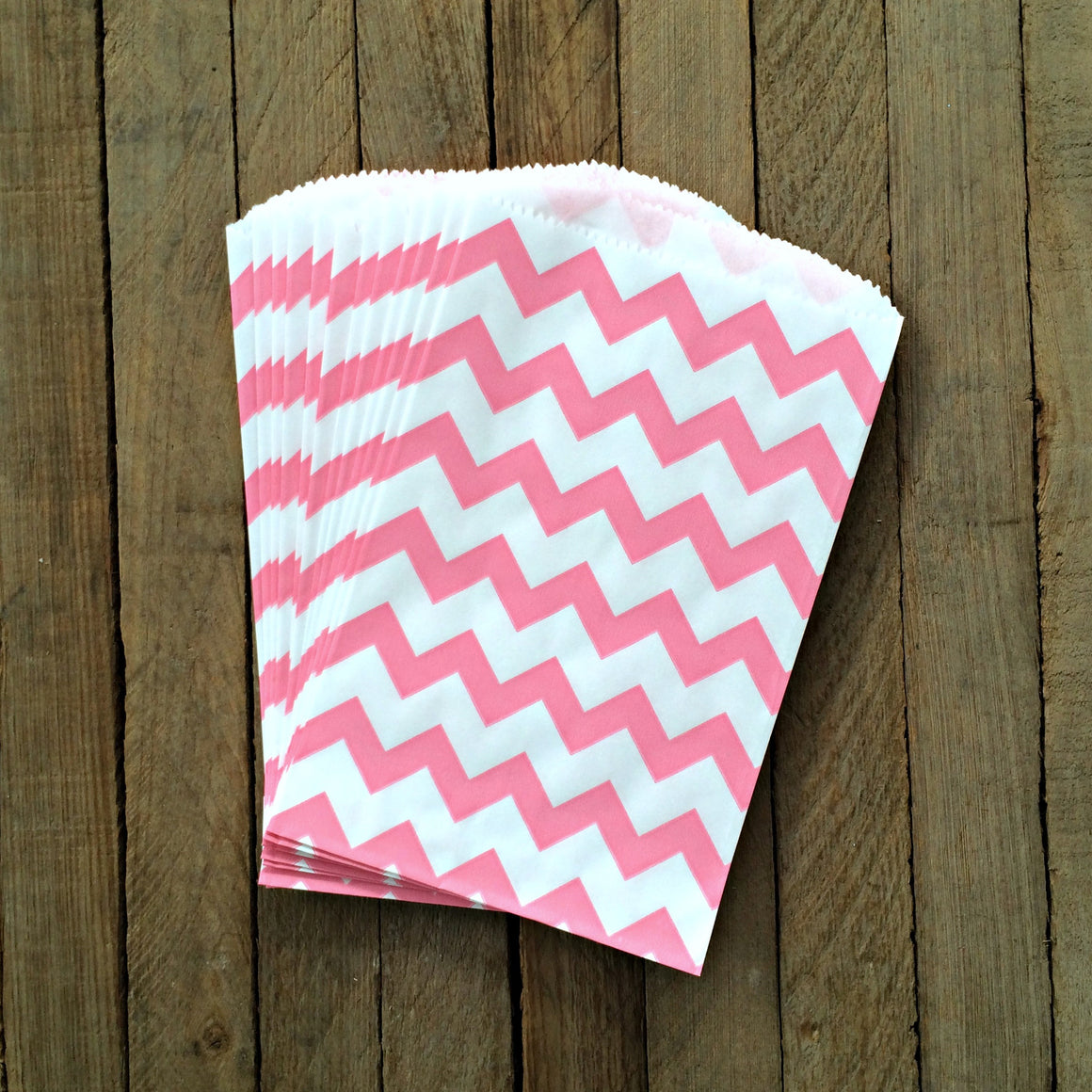 Candy Bags - Pink Chevron