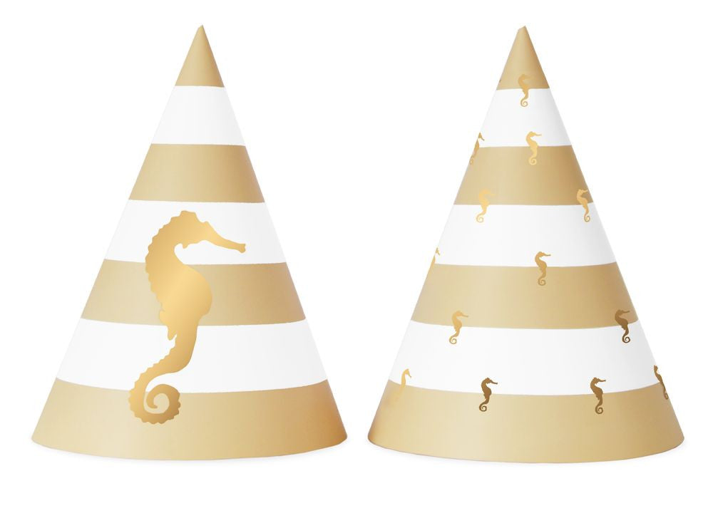 Preppy Seahorse 10 Party Hats