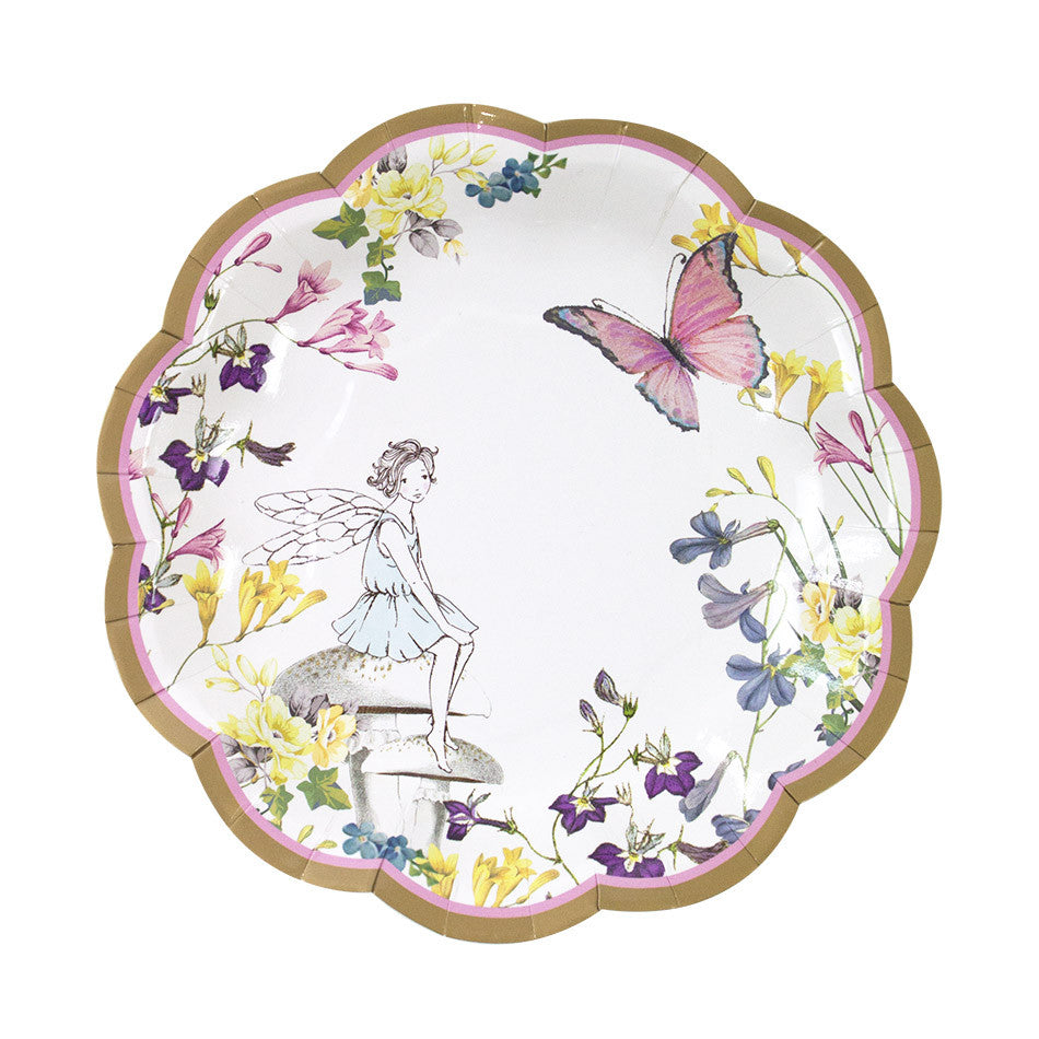 Fairy 12 Scallop Edge Plates