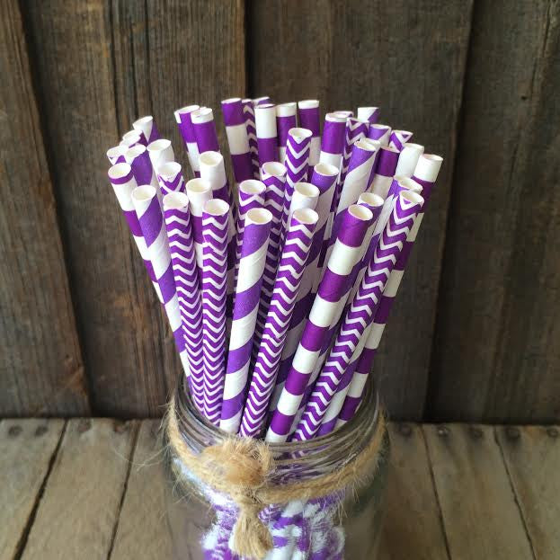 Paper 25 Straws - Grape Combo