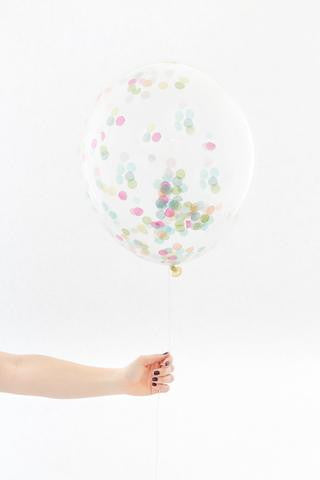 Confetti Balloon - Rainbow