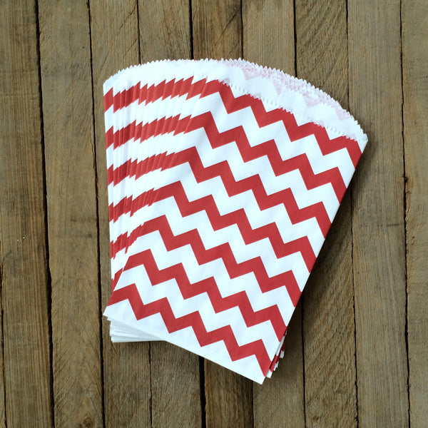 Candy Bags - Red Chevron