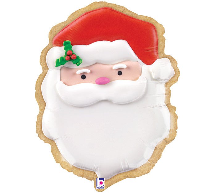 "24"" Christmas Santa Cookie Balloon"