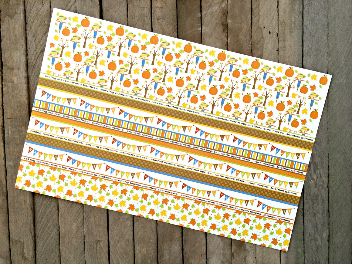 Happy Harvest - 8 Placemats