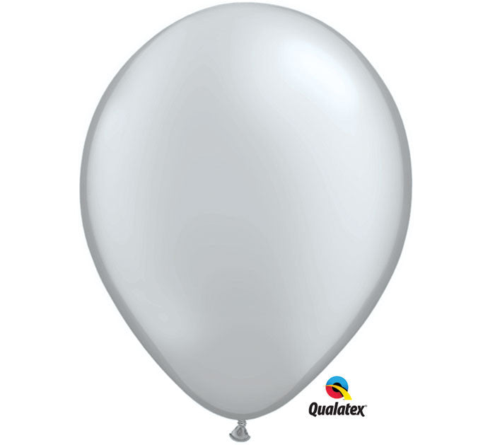 "11"" METALLIC SILVER BALLOON"