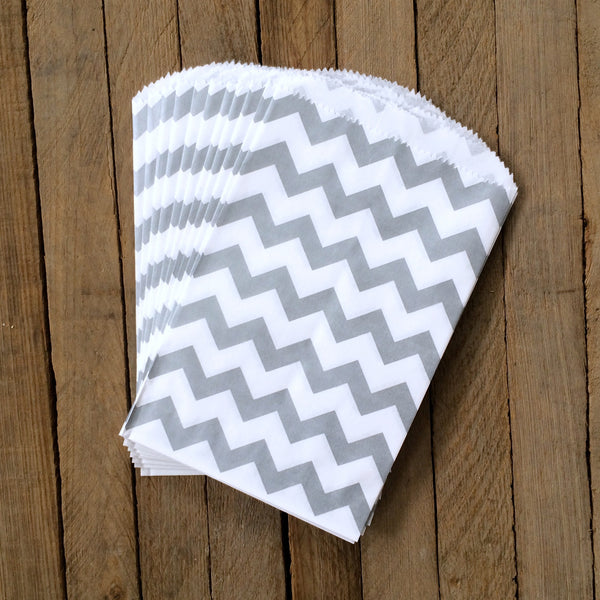 Candy Bags - Grey Chevron