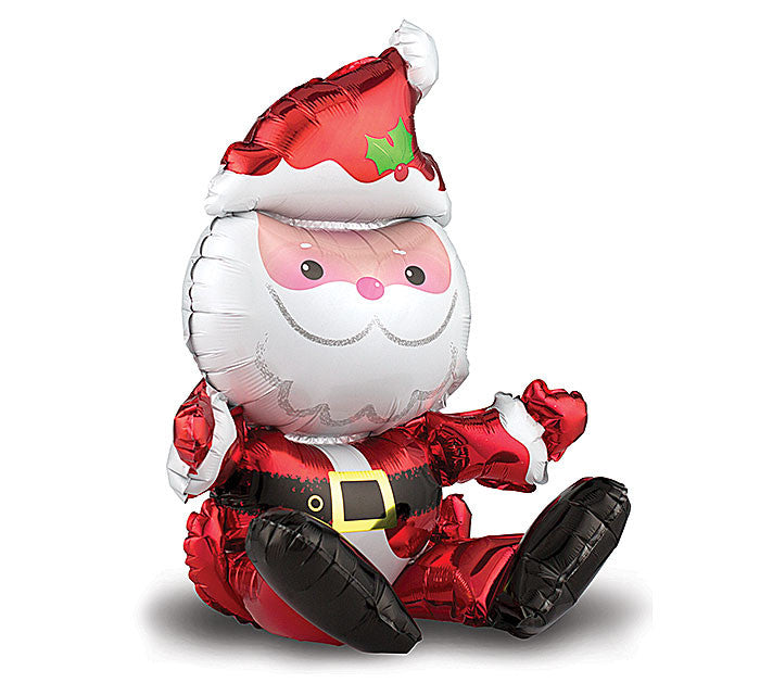 "21"" Sitting Santa Balloon"