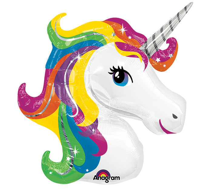 "Unicorn Bright Colors 33"" Balloon"