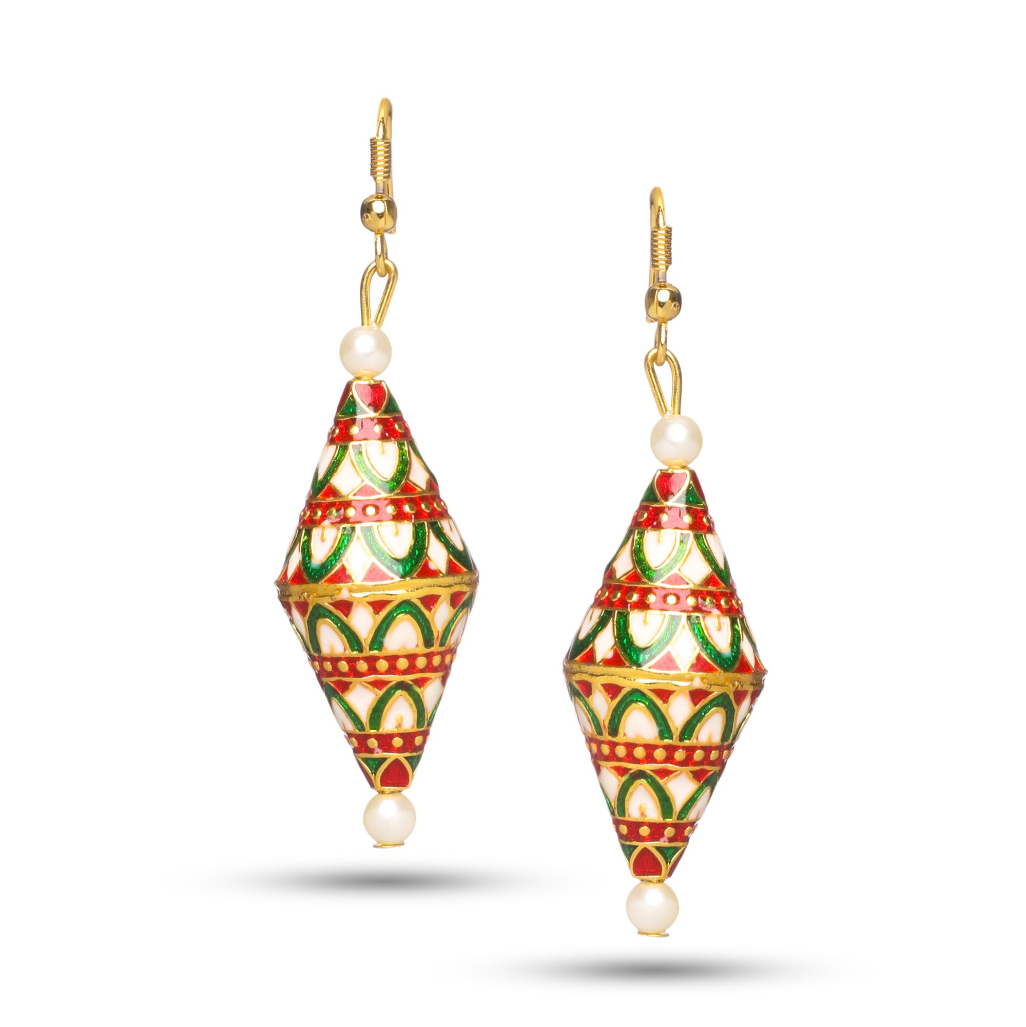 Elegant Meenakari Multicolor Dangle Earrings
