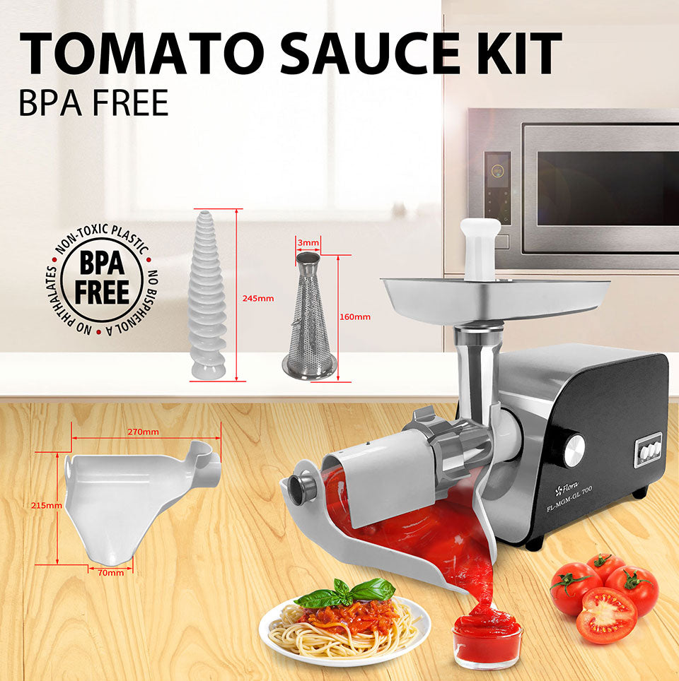 Flora Mincer Package TOMATO SAUCE KIT BPA FREE