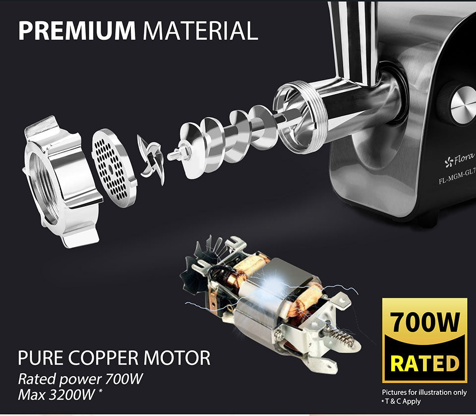 Premium Material PURE COPPER MOTOR Rated power 700W Max 3200W