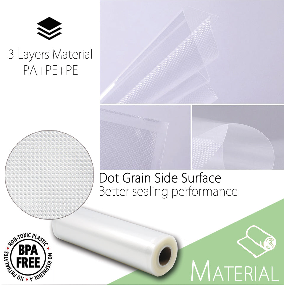3 Layers Material PA+PE+PE Dot Grain Side Surface Better sealing performance