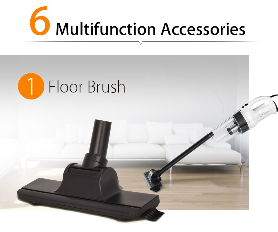 Flora Super Powerful Household Electric Portable Handheld Cyclone Vacuum Cleaner Multifunction Accessories Floor Brush